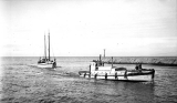 Passenger and towing motor tug GENEVIEVE in operation, n.d.