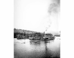 Steamboat J.P. LIGHT in Five Finger Rapids, Yukon River, n.d.