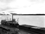 Steamboat J.P. LIGHT at a boat landing, Yukon River, ca. 1898