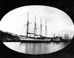 Four masted schooner KONA, Hoquiam River, n.d.