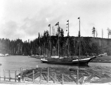Four masted schooner MELROSE, Hoquiam River, n.d.