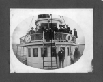 Passengers and crew aboard the steamer ROSALIE, 1899
