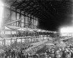 Keel laying ceremony for the steamship SS NEBRASKA, ca. 1904
