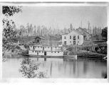 Sternwheel steamboat NELLIE at Ferguson's Wharf, Snohomish, n.d.