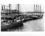 Schooners R.C. SLADE and A.J. WEST docked at the Slade Mill, Aberdeen, n.d.