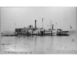 Steamers NORTH PACIFIC and LYDIA THOMPSON at the Chautauqua dock, Vashon Island, 1893