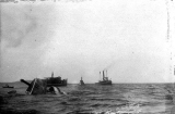 Sinking of the sidewheel steamer NORTH PACIFIC, off Port Townsend, 1903