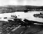 Bird's-eye view of the steamer NANN SMITH  in Coos Bay,  ca. 1913