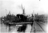 Steam tug TYEE in drydock, n.d.