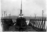 Steam tug TYEE in dry dock, n.d.