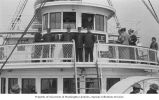 Officers on the deck of Washington & Alaska Steamship Co. steamer CITY OF SEATTLE enroute to...