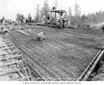Mercer Island Boulevard overpass construction, station 216, looking north, September 28, 1939