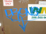 Drone Handstyle on dumpsters