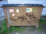 Elaborate Handstyle on dumpsters in U-District