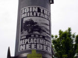 Military Flyer on Light Pole