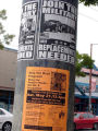 2 Military Flyers and Social Security Flyer on Pole