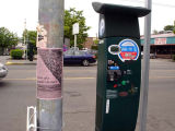 Art Event Flyer on Pole next to pay station