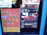 Event Flyers in Window