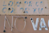 Villia del Mar Motel - detail of sign with faded paint