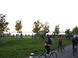 Stopping to hang out after Critical mass at Myrtle Edwards Park