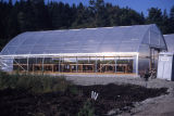 Greenhouse used for plant propagation during wetlands restoration
