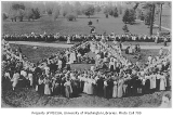 1911 Campus Day showing lunch tables, University of Washington