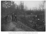 Forestry students working in the field, University of Washington, ca. 1910