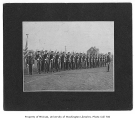 Military cadets drilling, University of Washington, ca. 1920