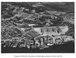 Aerial of campus taken from the southwest, University of Washington, August 26, 1949