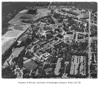 Aerial of campus taken from the north, University of Washington, ca. 1960