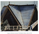 Allen Library roof construction, University of Washington, ca. 1990