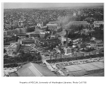 Aerial of campus from the east, University of Washington, ca. 1950