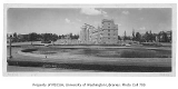 Frosh Pond with Parrington Hall, Suzzallo Library, and Mary Gates Hall (Physics Hall) in...
