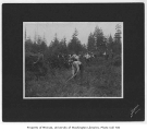 1904 Campus Day showing students clearing land, University of Washington