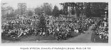 1919 Campus Day showing students gathered on lawn, University of Washington