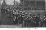 Football rally on Denny Field, University of Washington, November 30, 1911