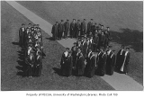 Graduates forming shape of 12, University of Washington, 1912