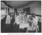 1904 Campus Day showing students preparing lunch, University of Washington