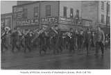 Band playing on Portland street for the O.A.C. (Oregon Agricultural College) vs. University of...