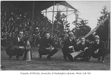 Football yell leaders at Denny Field, University of Washington, 1912