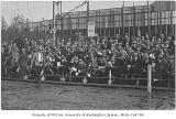 Football fans in Portland with The Hook for the O.A.C. (Oregon Agricultural College) vs....