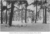 Administration Building (now Denny Hall) in snow, University of Washington, ca. 1905