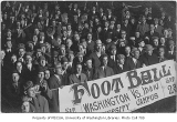 Rally for Washington vs. Idaho football game, University of Washington, October 1909