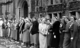 1932 Campus Day showing a line of women students, University of Washington