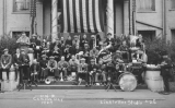 1924 Campus Day showing a marching band, University of Washington