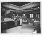 Library interior, University of Washington, ca. 1920