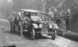 1922 Campus Day showing students with the official car, University of Washington