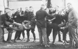 1921Campus Day showing students with mock prisoners, University of Washington