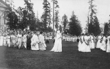May Fete showing King Winter and his train, University of Washington, n.d.
