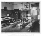 Administration Building (now Denny Hall) interior showing geology lecture room, University of...